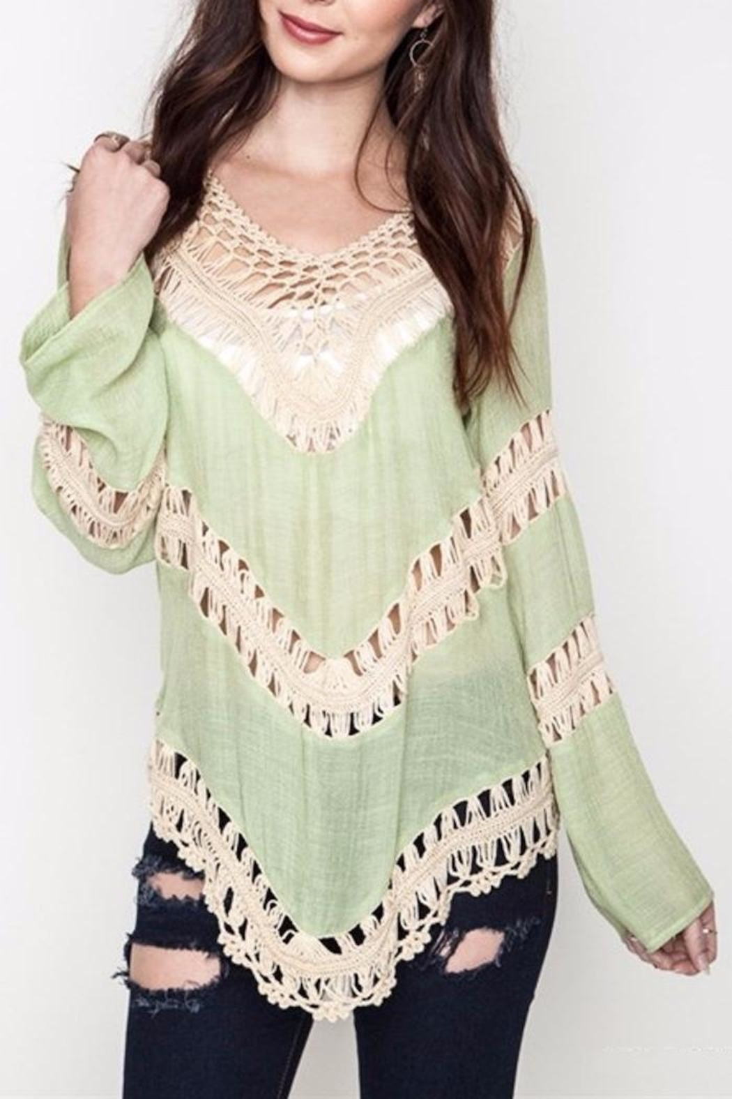 People Outfitter Crochet Festival Top - Main Image