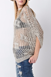 People Outfitter Crochet Knit Sweater Top - Side cropped