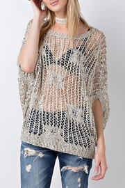 People Outfitter Crochet Knit Sweater Top - Product Mini Image