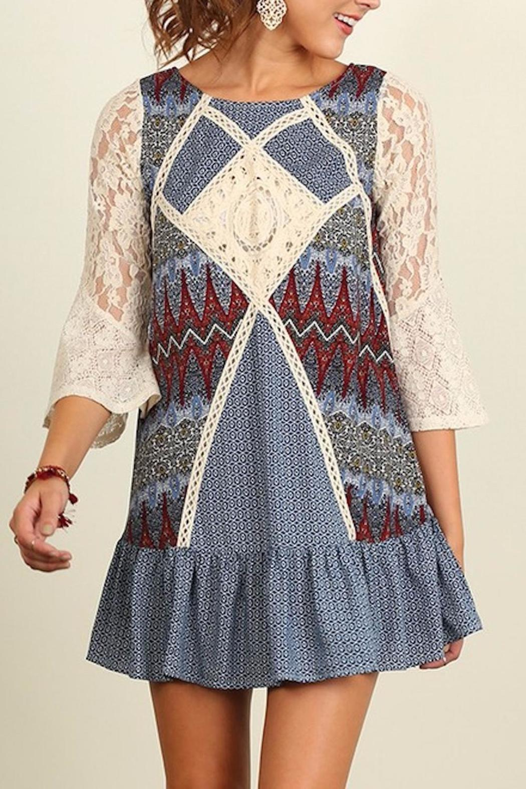 People Outfitter Crochet Patch Dress - Main Image