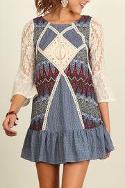 People Outfitter Crochet Patch Dress - Front cropped