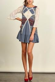 People Outfitter Crochet Patch Dress - Front full body