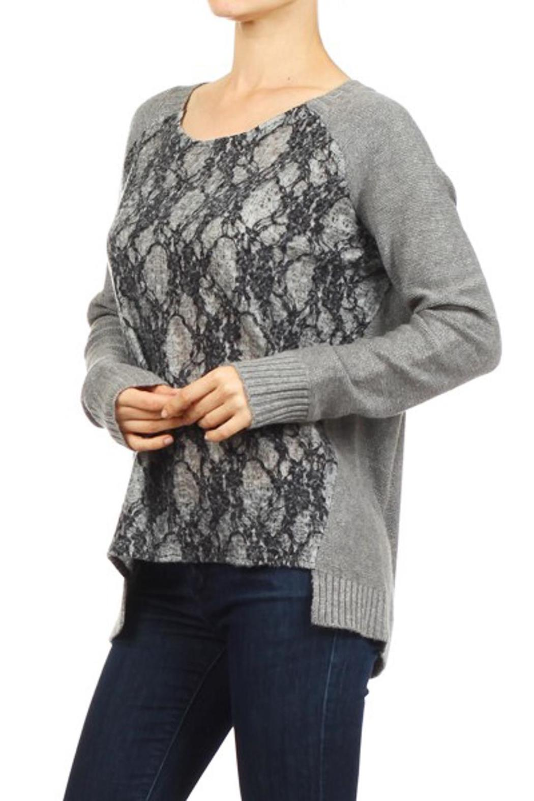 People Outfitter Departures Sweater - Side Cropped Image