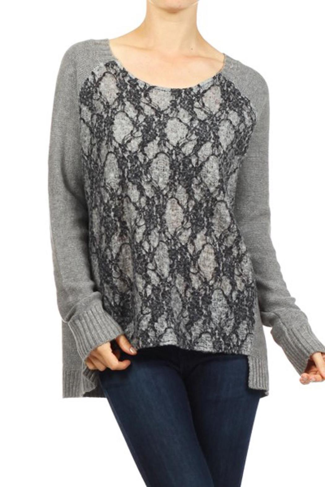 People Outfitter Departures Sweater - Front Cropped Image