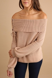 People Outfitter Off-Shoulder Sweater - Product Mini Image
