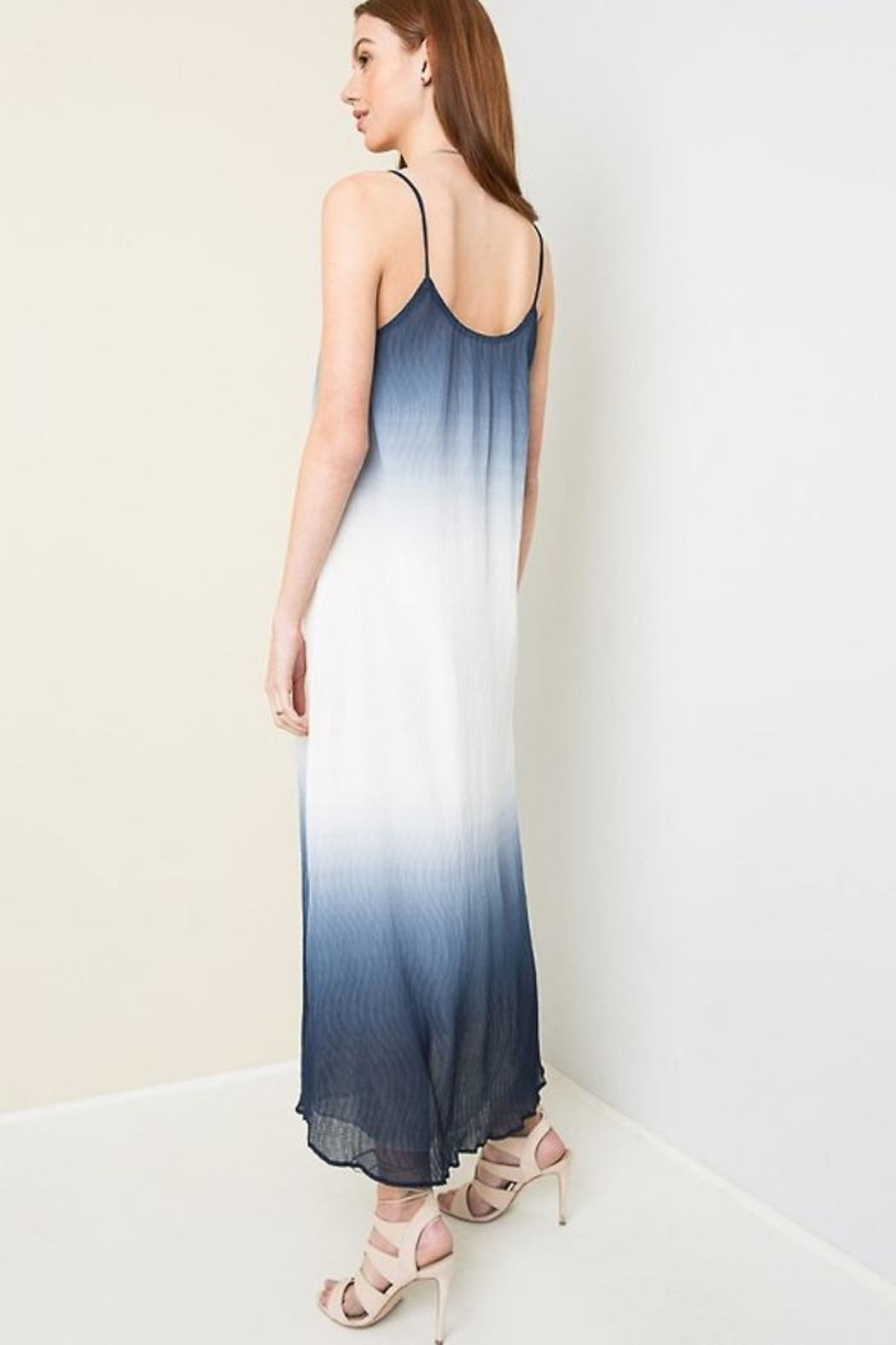 People Outfitter Dip Die Maxi-Dress - Back Cropped Image