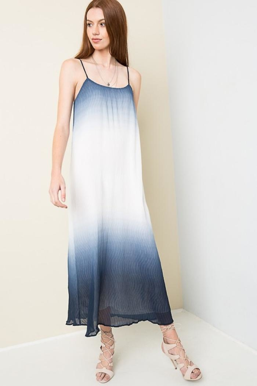 People Outfitter Dip Die Maxi-Dress - Side Cropped Image