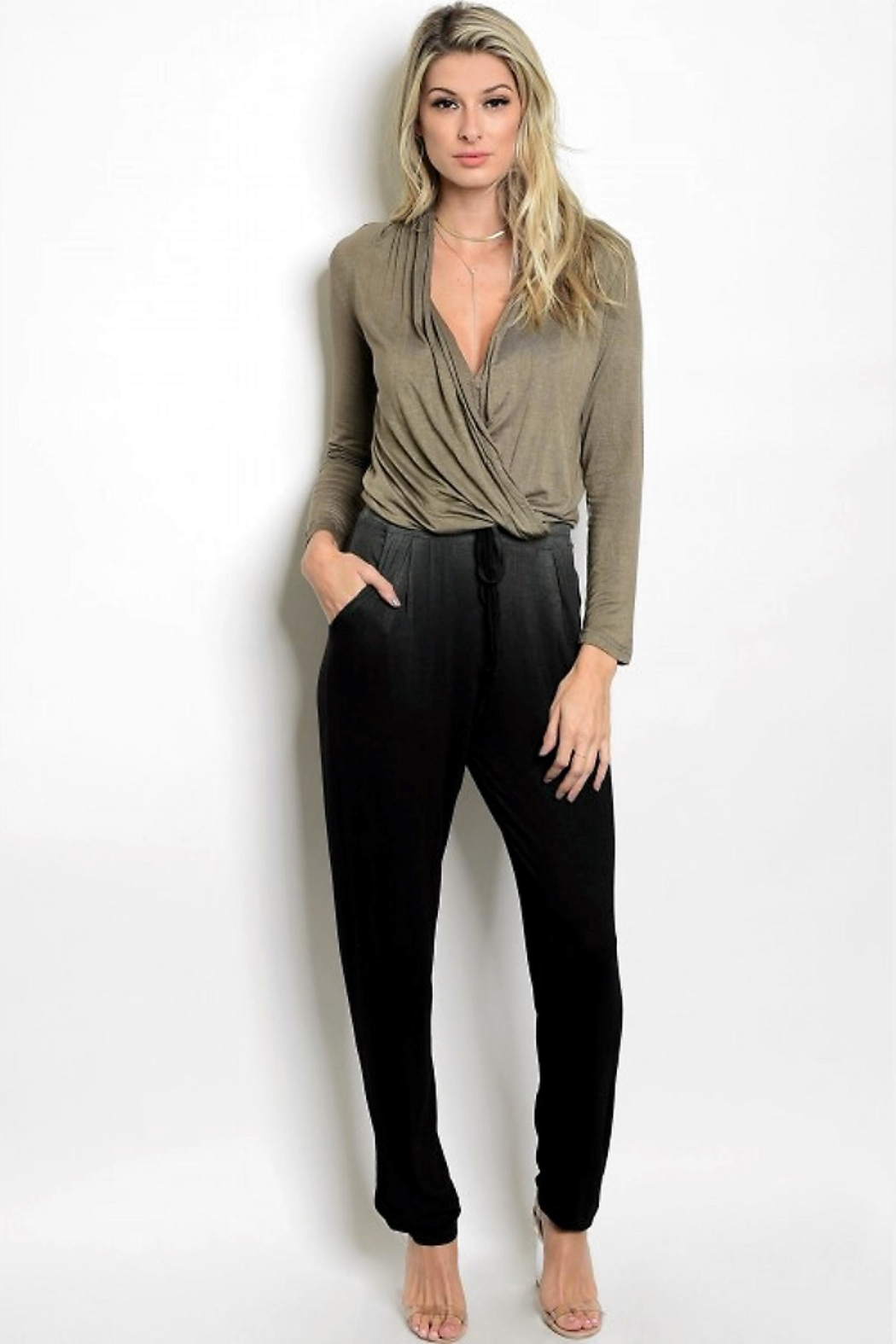 People Outfitter Dip Dye Jumpsuit - Main Image