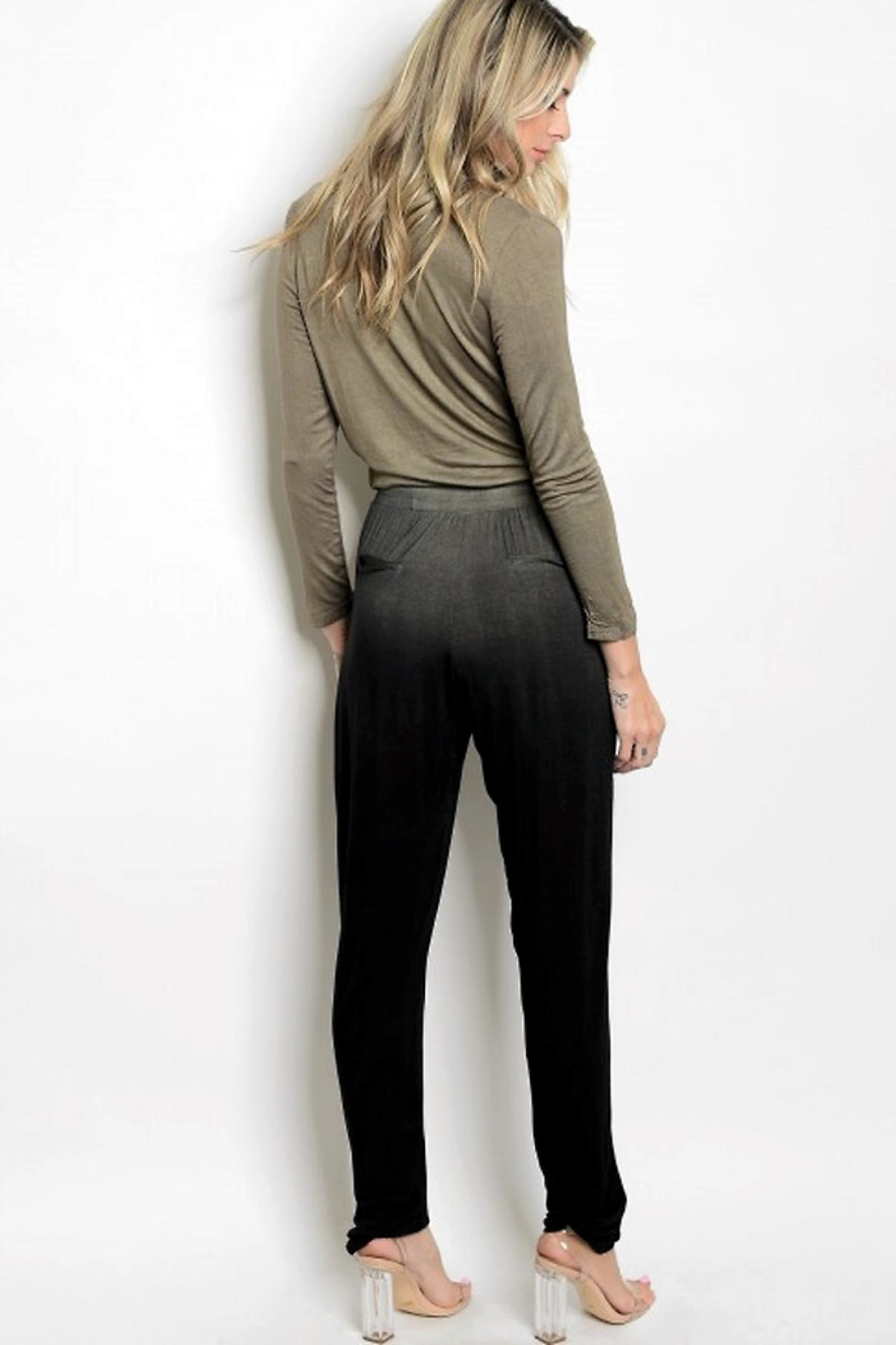 People Outfitter Dip Dye Jumpsuit - Front Full Image