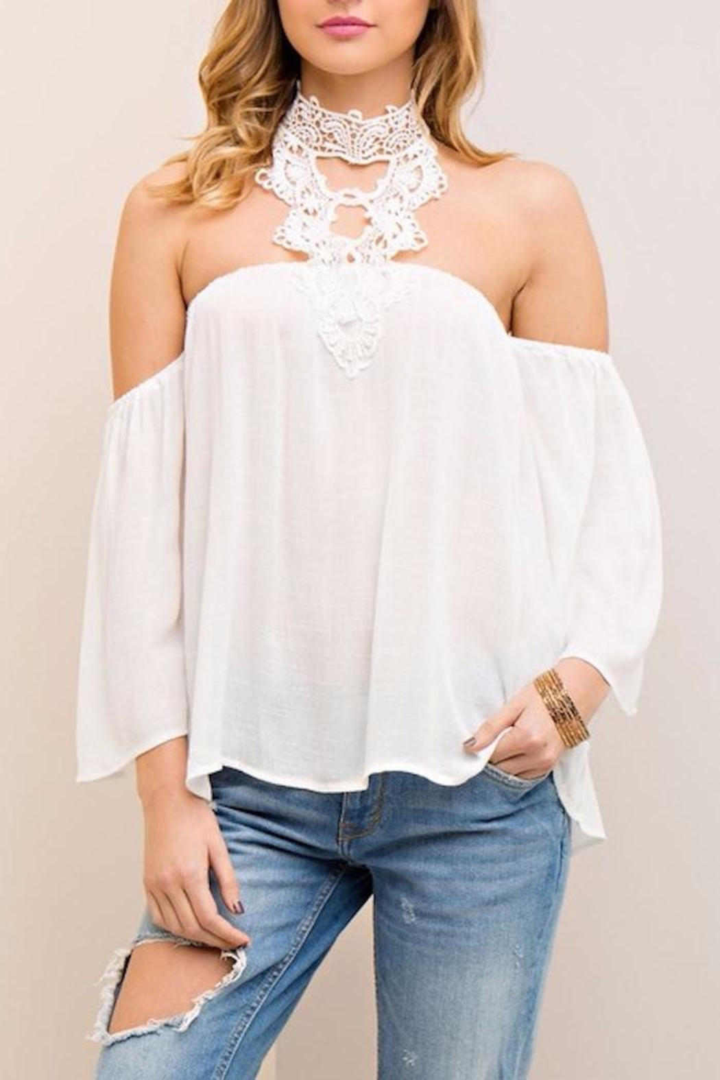 People Outfitter Dream Crochet Top - Main Image