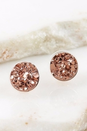 People Outfitter Druzy Rose-Gold Earrings - Product Mini Image