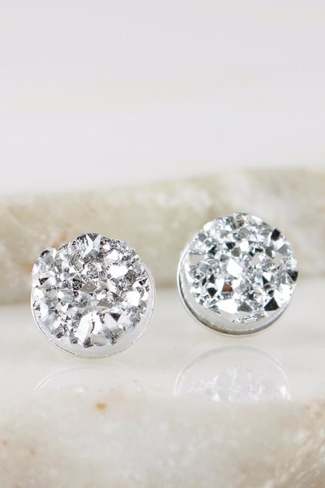 People Outfitter Druzy Silver Earrings - Main Image