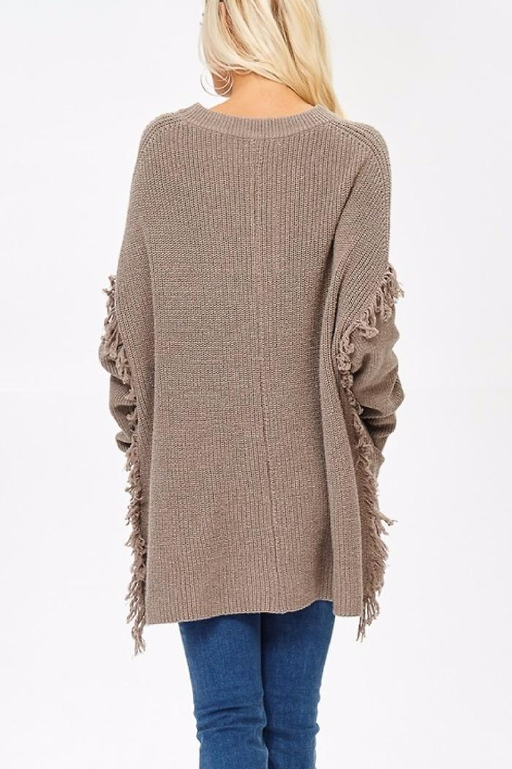 People Outfitter Ella's Long Sweater - Side Cropped Image