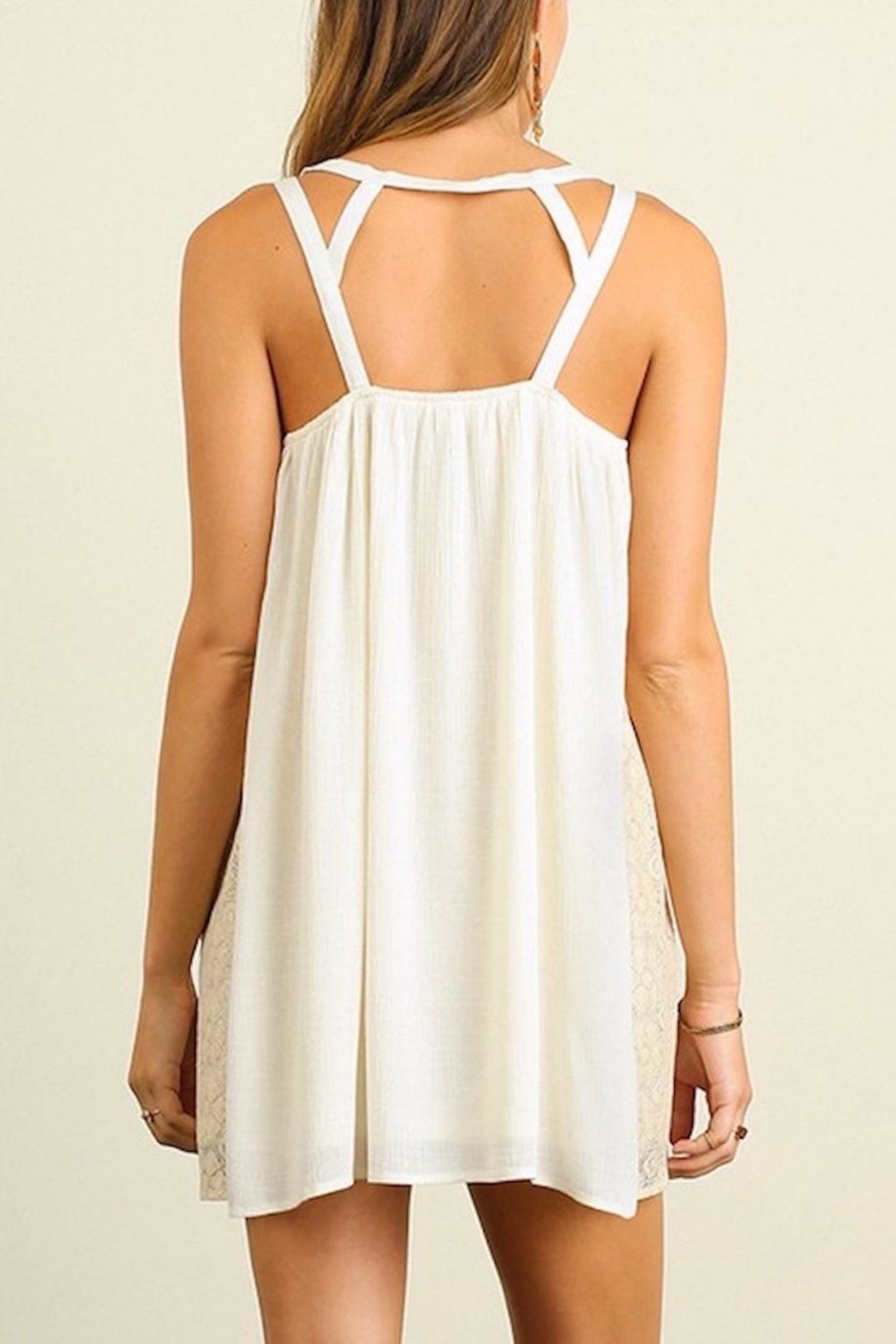 People Outfitter Embellished Natural  Dress - Side Cropped Image