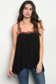 People Outfitter Embroidery Black Top - Product Mini Image