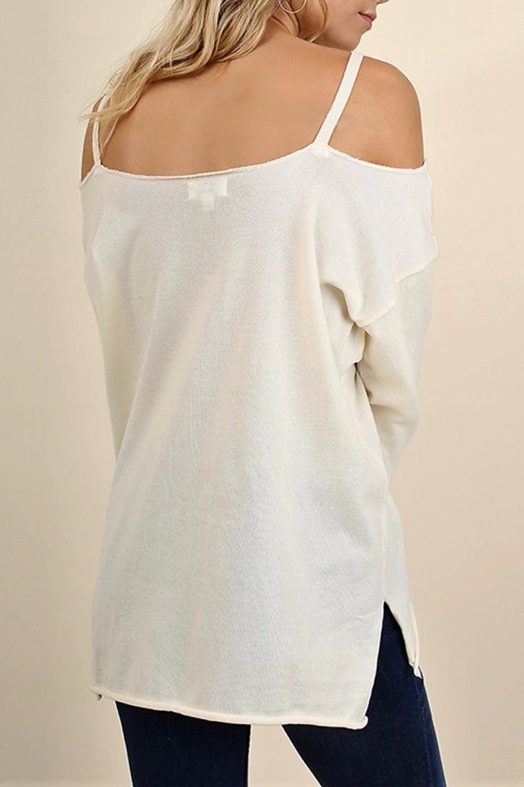 People Outfitter Eternity Cold Shoulder Top - Front Full Image