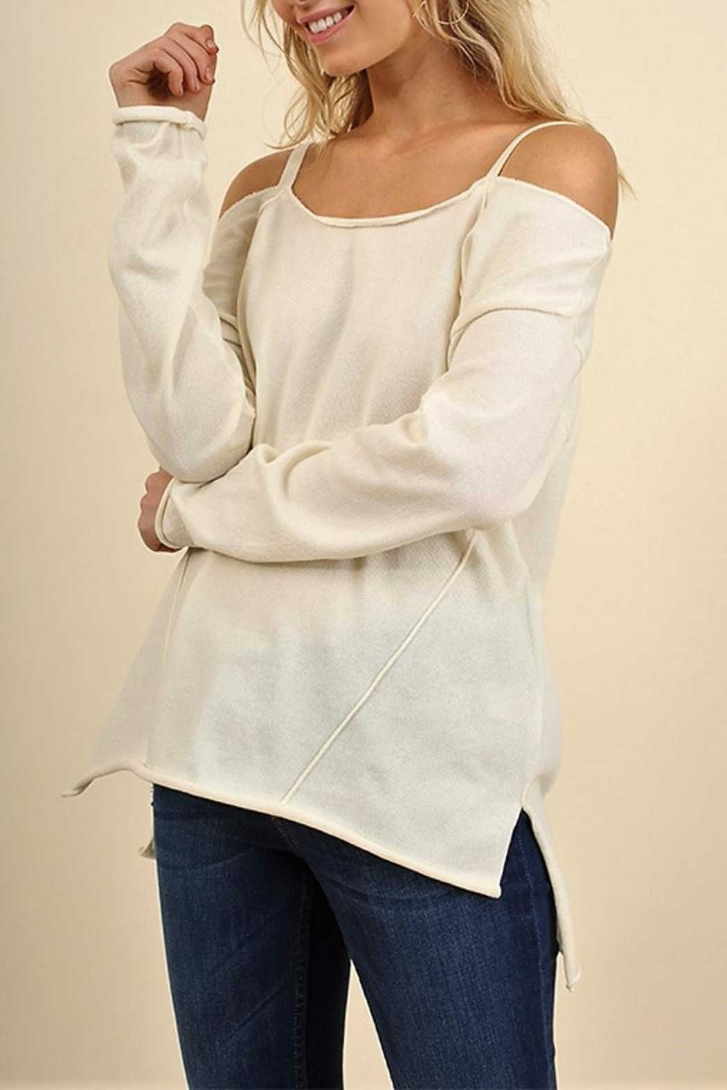People Outfitter Eternity Cold Shoulder Top - Main Image