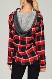 People Outfitter Flannel Hoodie Sweater - Side cropped