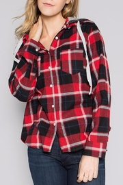 People Outfitter Flannel Hoodie Sweater - Product Mini Image