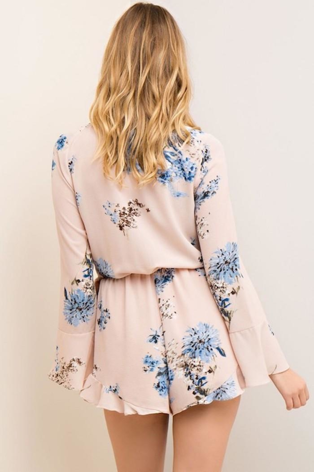 People Outfitter Flower Wrapped Romper - Front Full Image