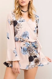 People Outfitter Flower Wrapped Romper - Front cropped