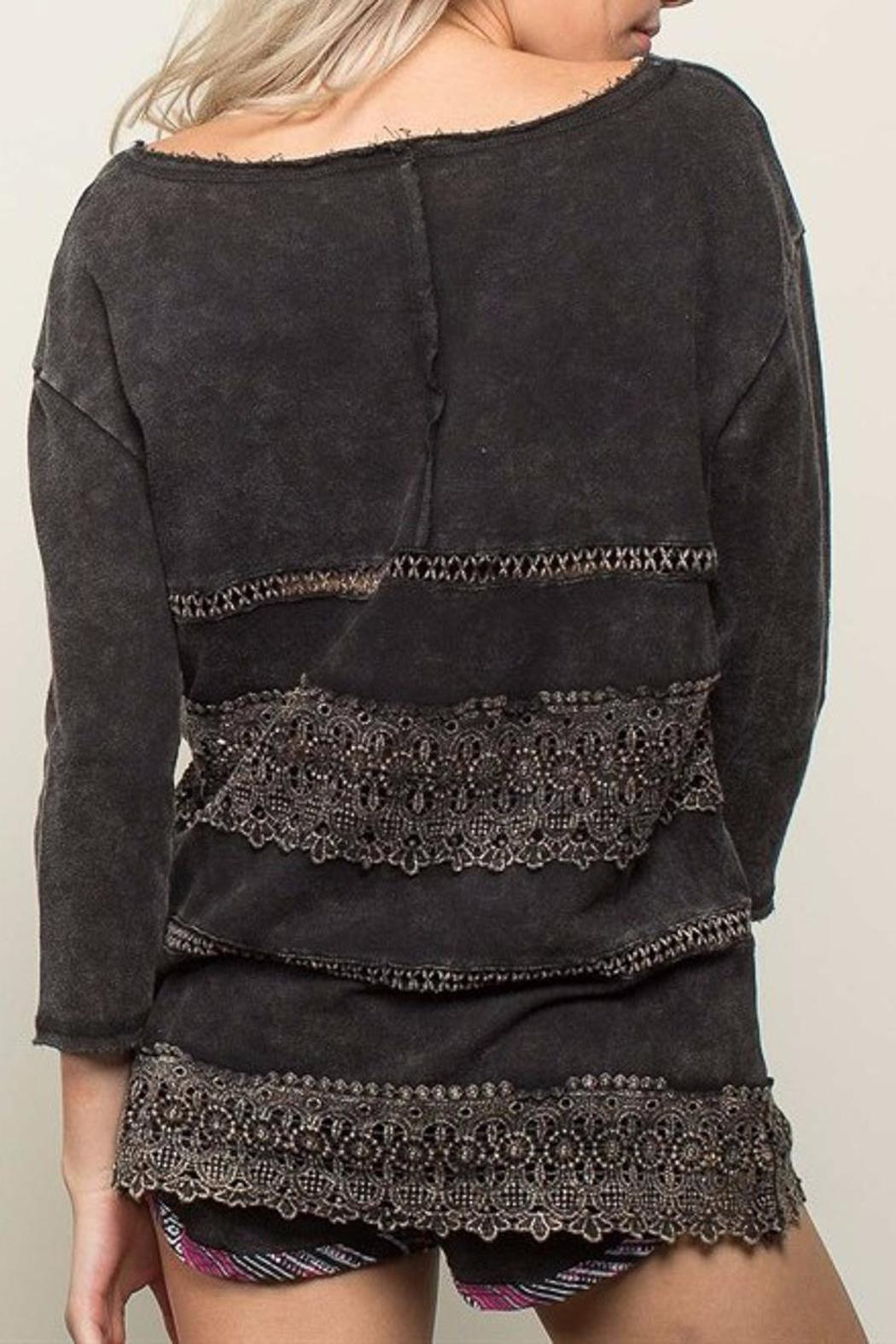 People Outfitter French Pullover Top - Front Full Image
