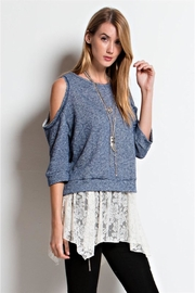 People Outfitter French Terry Layered-Look Tunic - Front cropped