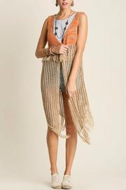 People Outfitter Fringe Crochet Vest - Product Mini Image