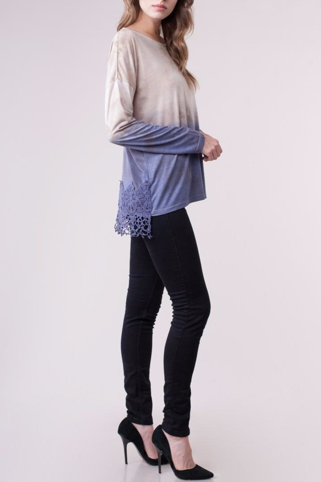 People Outfitter Geneva Knit Top - Front Full Image