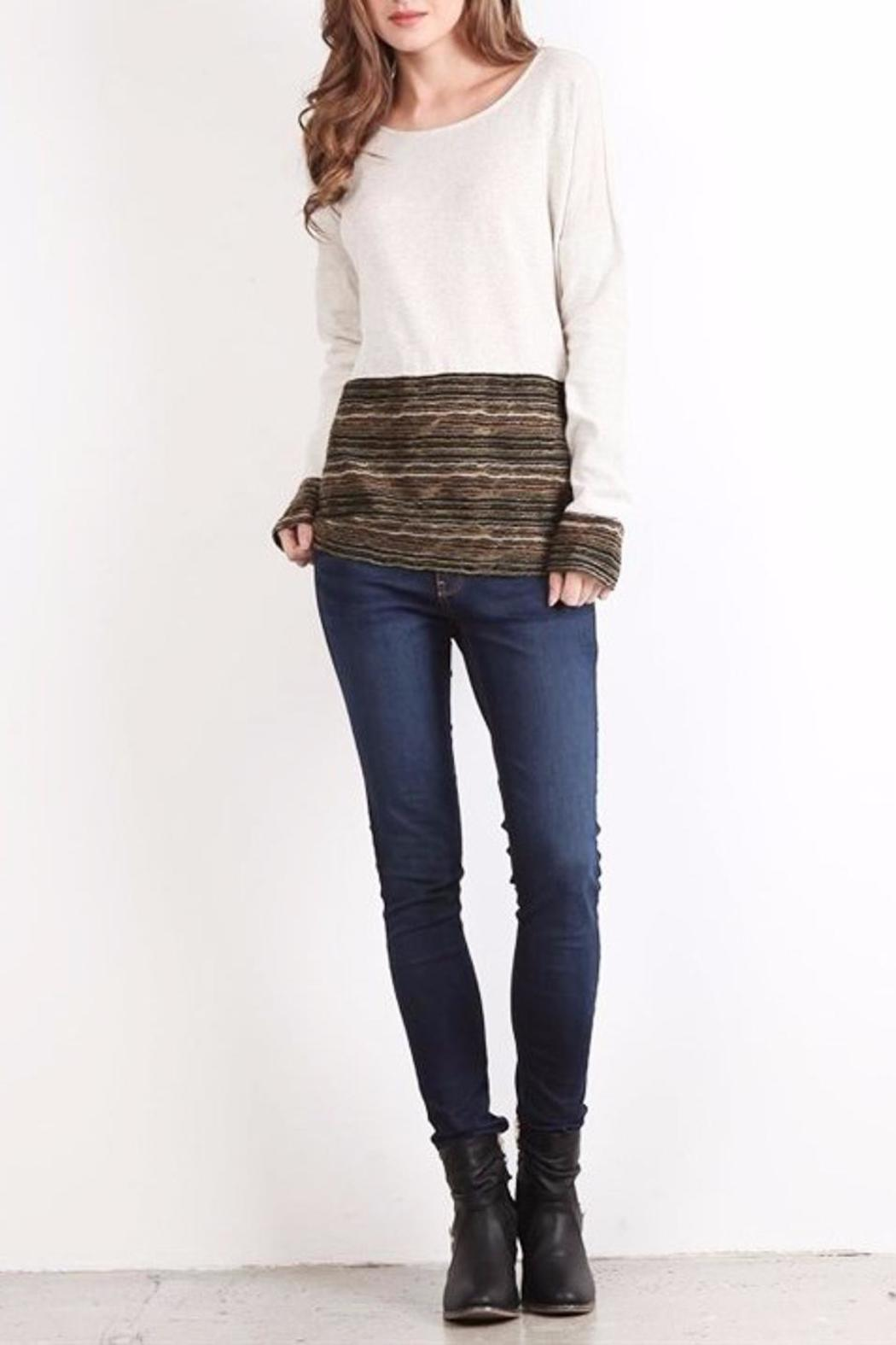 People Outfitter Girl Talk Top - Front Full Image