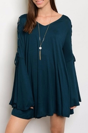 People Outfitter Green Bell Sleeve Tunic - Product Mini Image