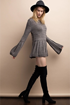 People Outfitter Grey Bell Sleeve Sweater - Alternate List Image