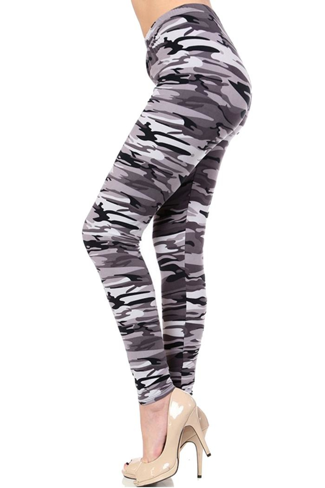 People Outfitter Grey Camouflage Legging - Main Image