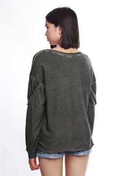 People Outfitter Grey Cut Out Sweatshirt - Alternate List Image