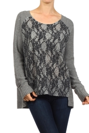 People Outfitter Grey High Low Tunic Sweater - Product Mini Image