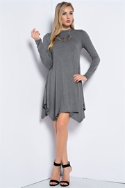 People Outfitter Grey Mock Neck Dress - Product Mini Image