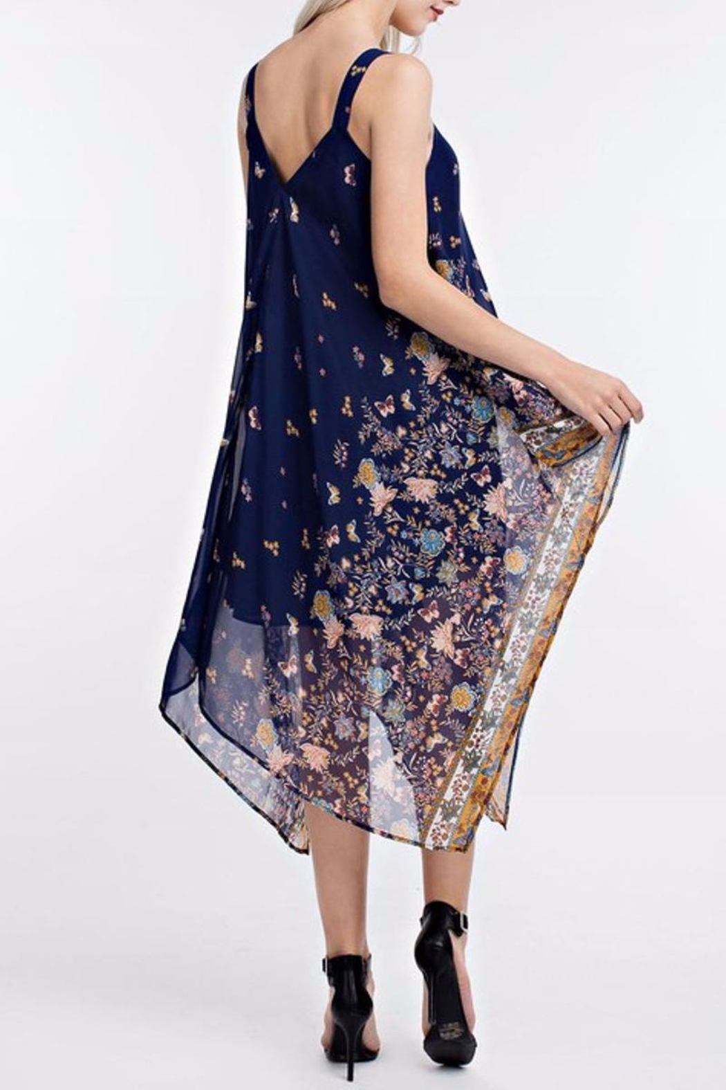 People Outfitter Handkerchief Dress - Side Cropped Image