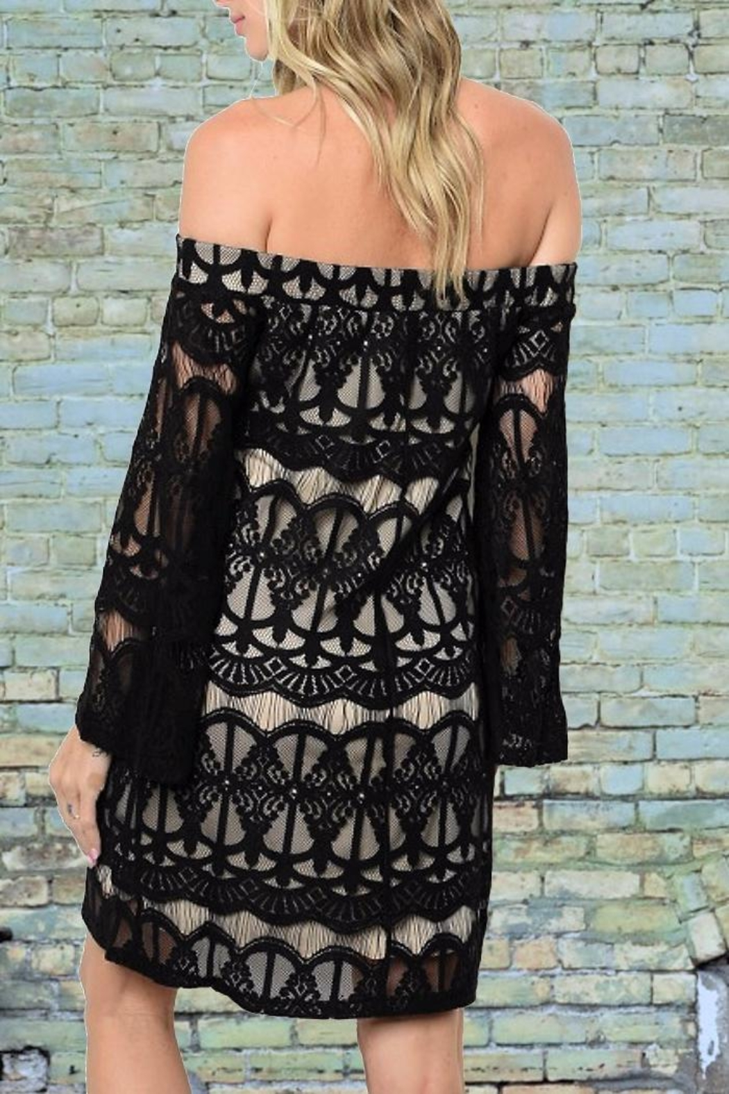 People Outfitter Hayley Lace Dress - Front Full Image
