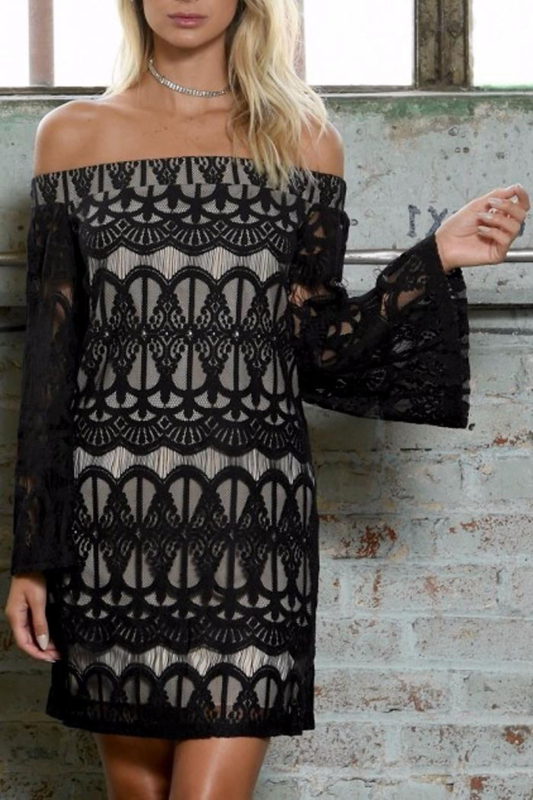 People Outfitter Hayley Lace Dress - Main Image