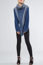 People Outfitter Heartened Blue Sweater - Front full body