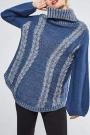 People Outfitter Heartened Blue Sweater - Back cropped
