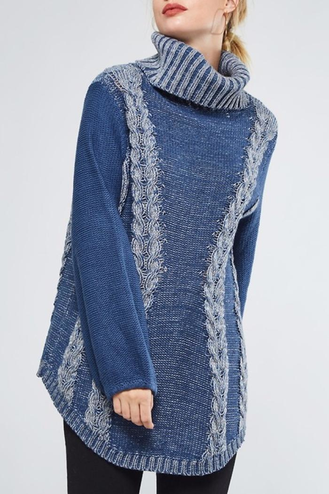 People Outfitter Heartened Blue Sweater - Main Image