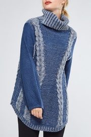 People Outfitter Heartened Blue Sweater - Front cropped