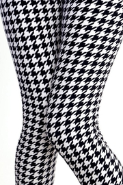People Outfitter Houndstooth Legging - Front full body