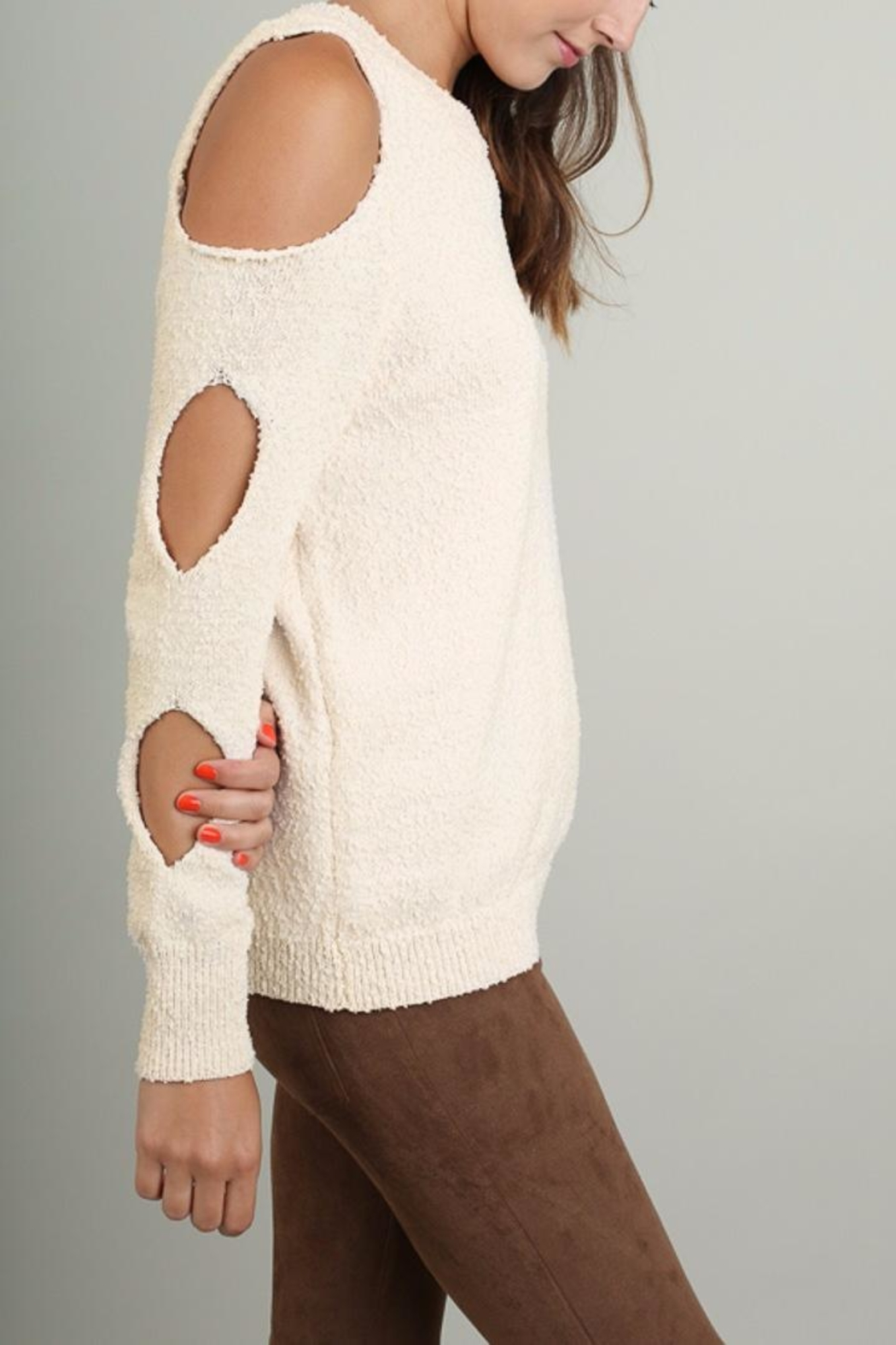 People Outfitter Ines Soft Sweater - Front Cropped Image