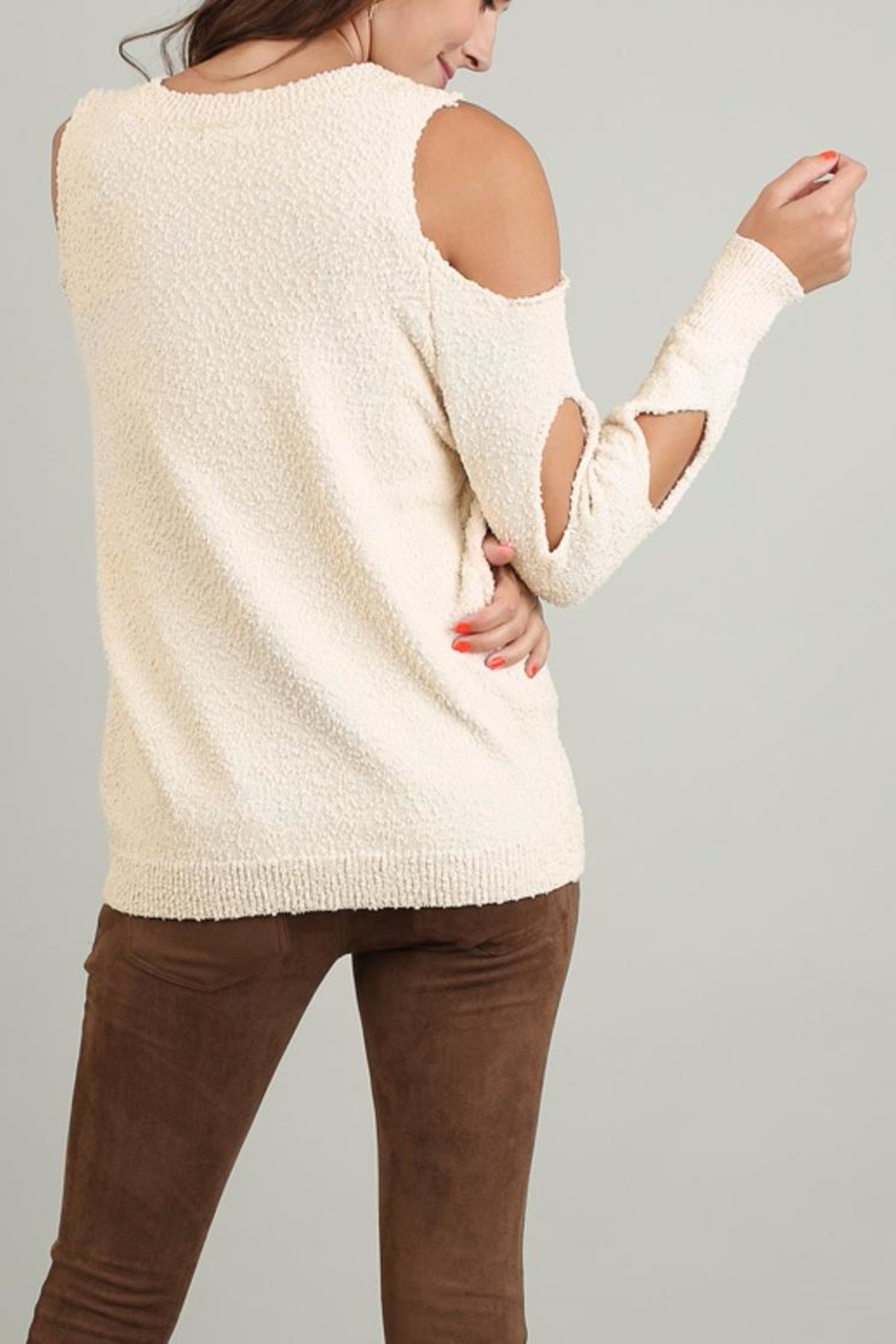 People Outfitter Ines Soft Sweater - Front Full Image