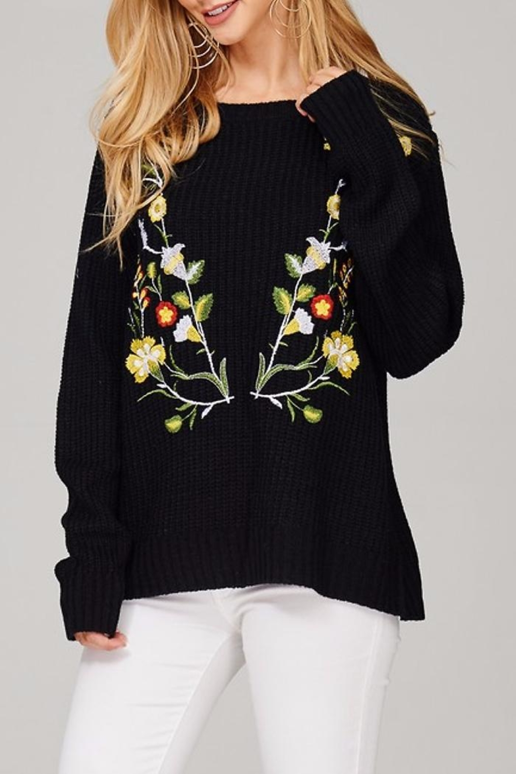People Outfitter Kaylee's Floral Sweater - Main Image