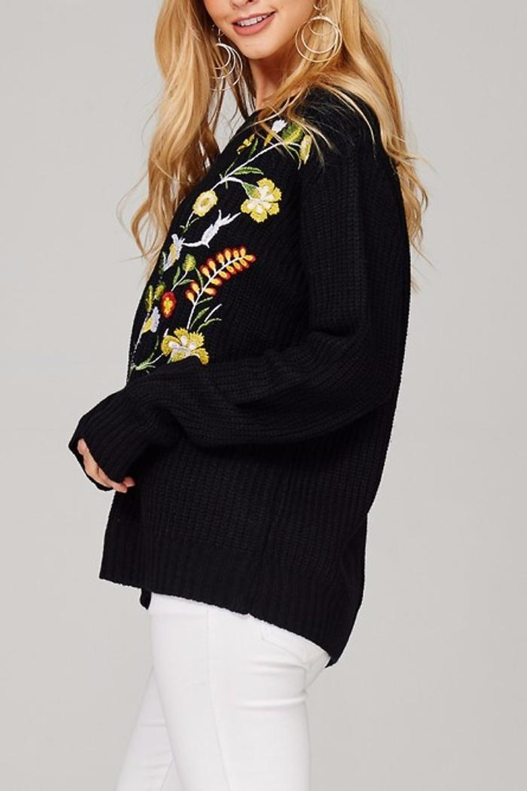 People Outfitter Kaylee's Floral Sweater - Front Full Image
