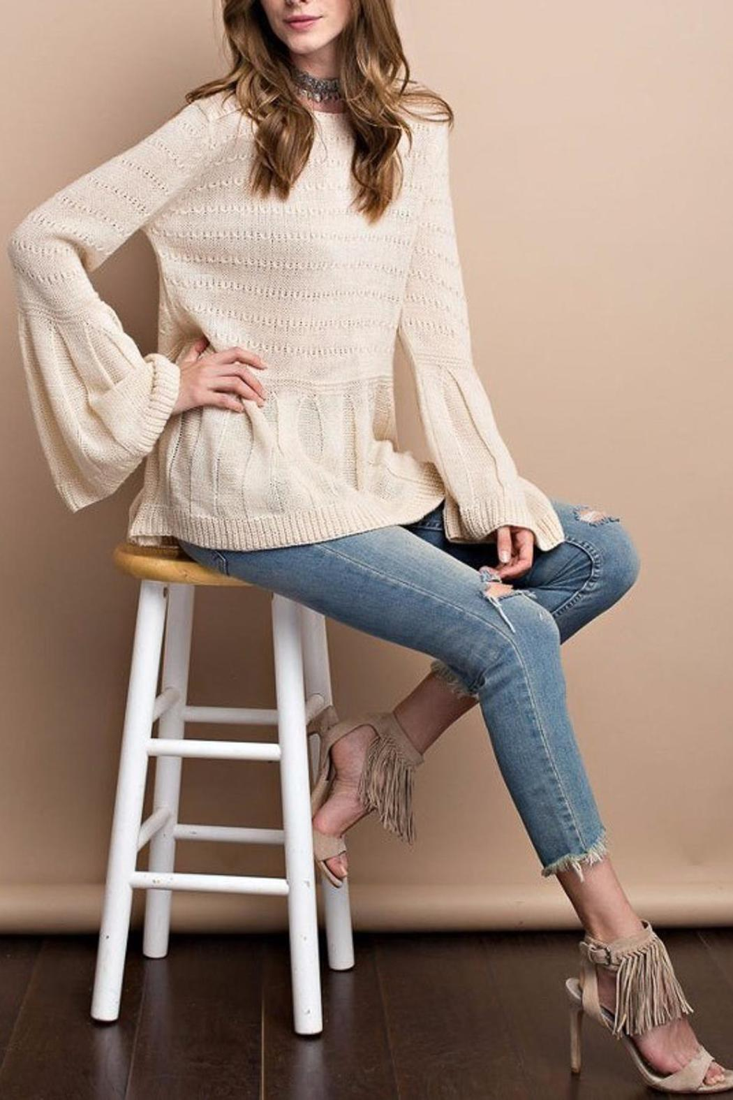 People Outfitter Keep Bell Sweater - Side Cropped Image