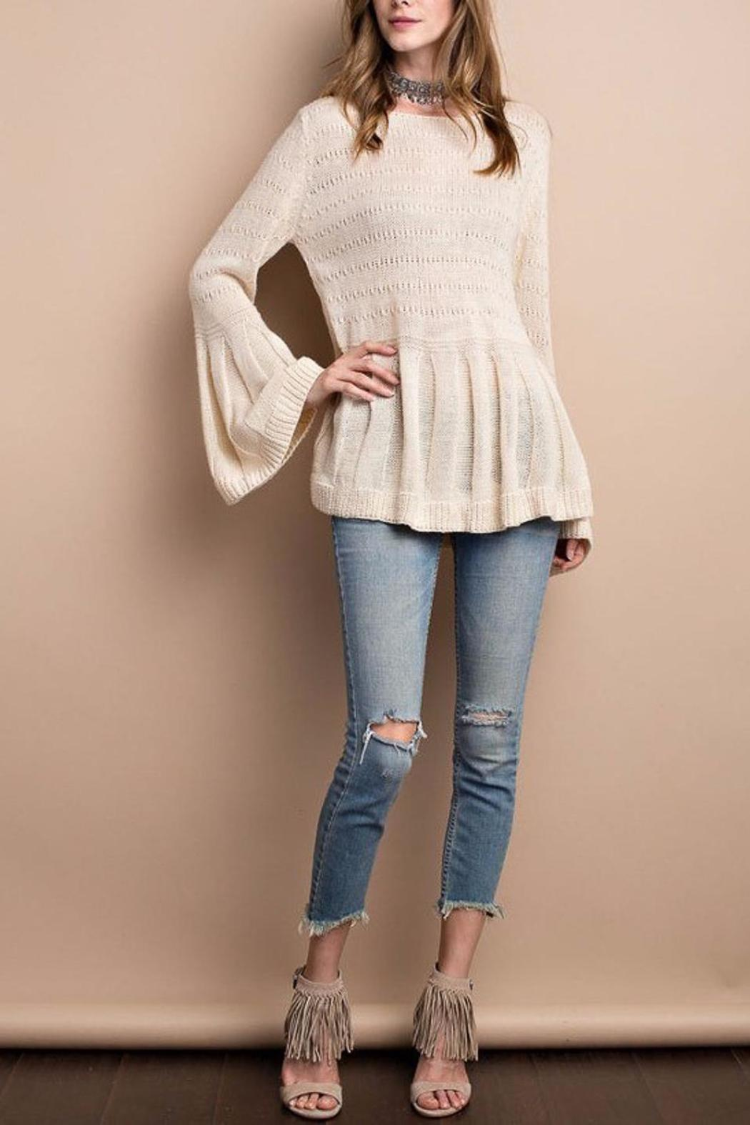 People Outfitter Keep Bell Sweater - Front Full Image